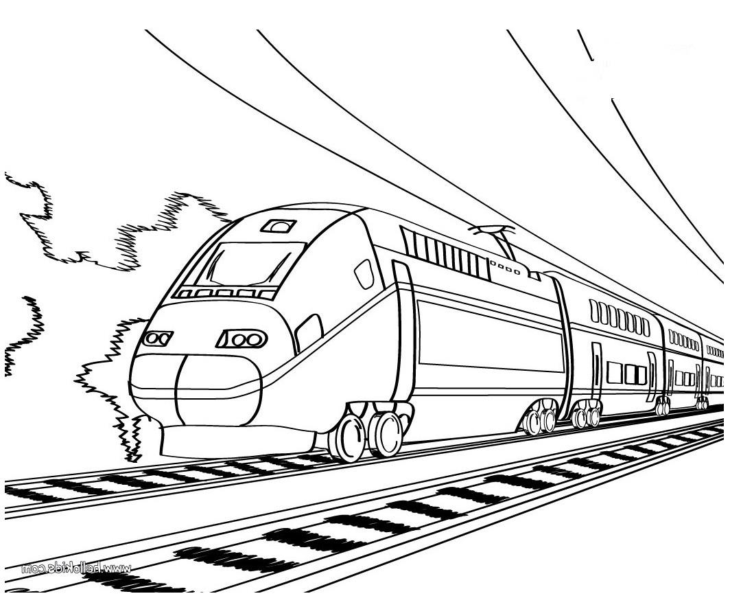 1064x868 Working Sheet Of Bullet Train For Preschoolers