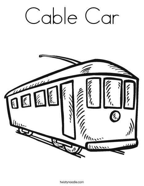 468x605 Cable Car Coloring Page