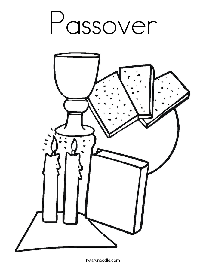 685x886 Passover Coloring Page