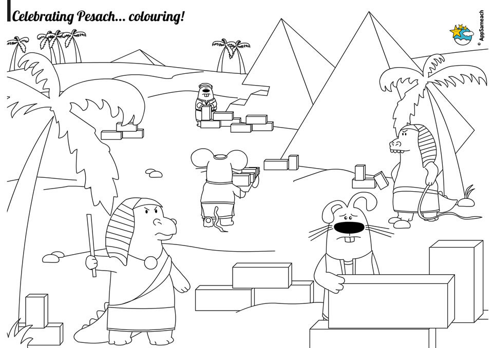 960x679 Passover Coloring Pages
