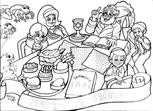 500x364 Passover Coloring Pages As Awesome Passover Feast Coloring Pages