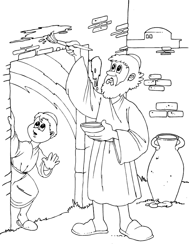 602x778 Passover Coloring Page Discipleland Sunday