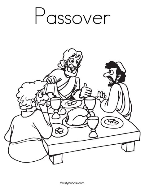 468x605 Passover Coloring Page