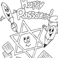200x200 Passover Lovely Passover Coloring Pages