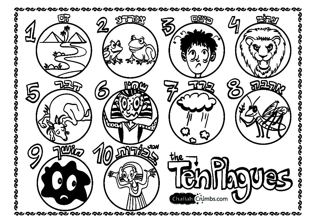 1024x724 Passover Coloring Pages Printables Online For Seder Plate Page