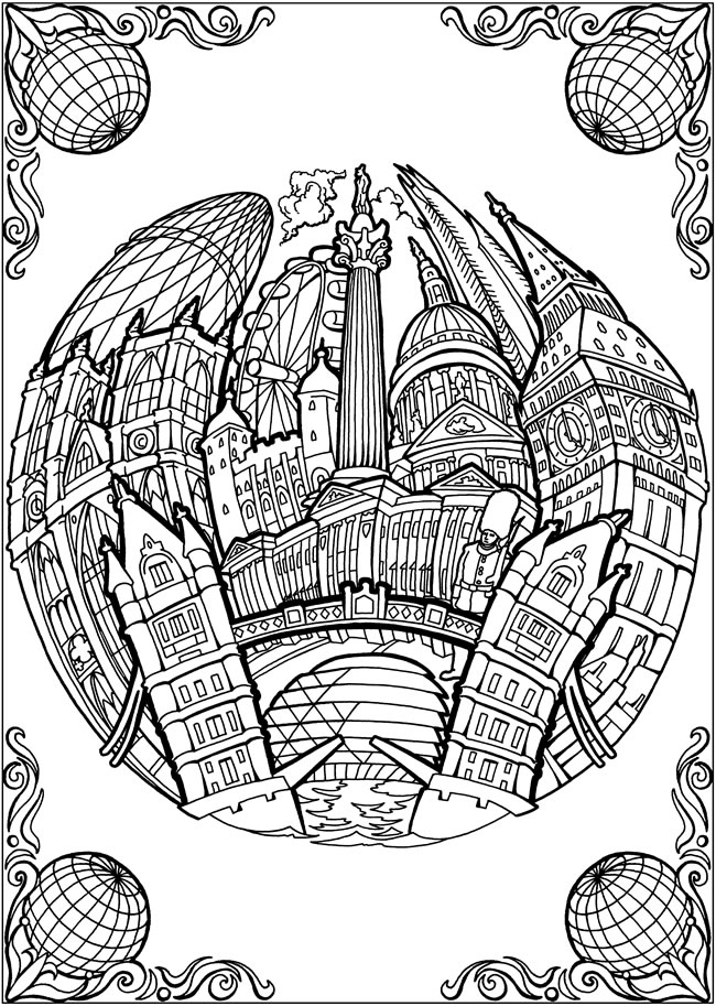 Passport Coloring Page