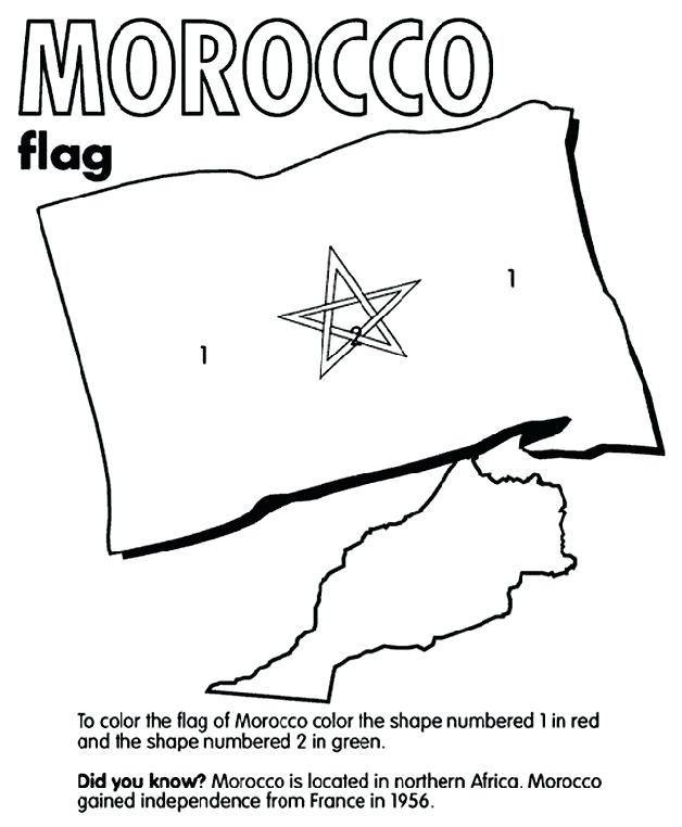 628x762 Passport Coloring Page Morocco Free Coloring Collection