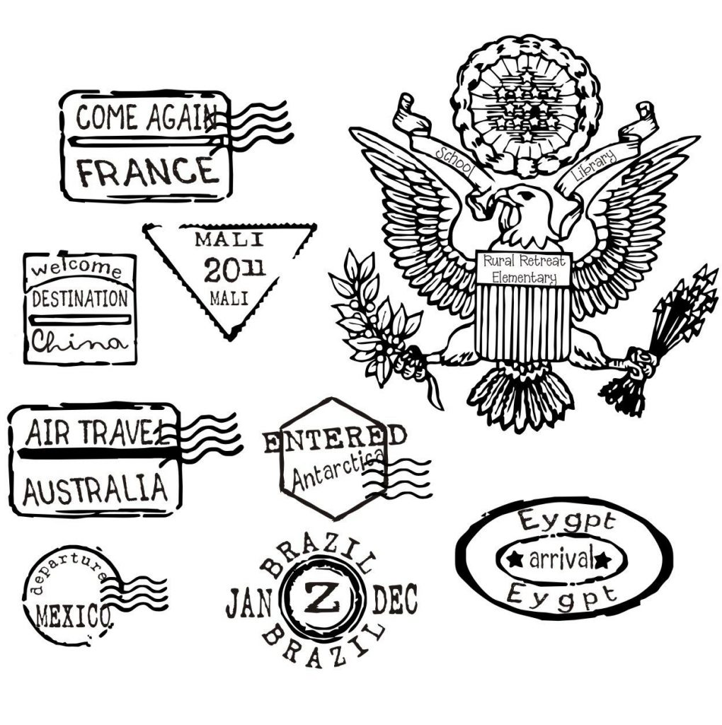 1020x1024 Passport Coloring Page