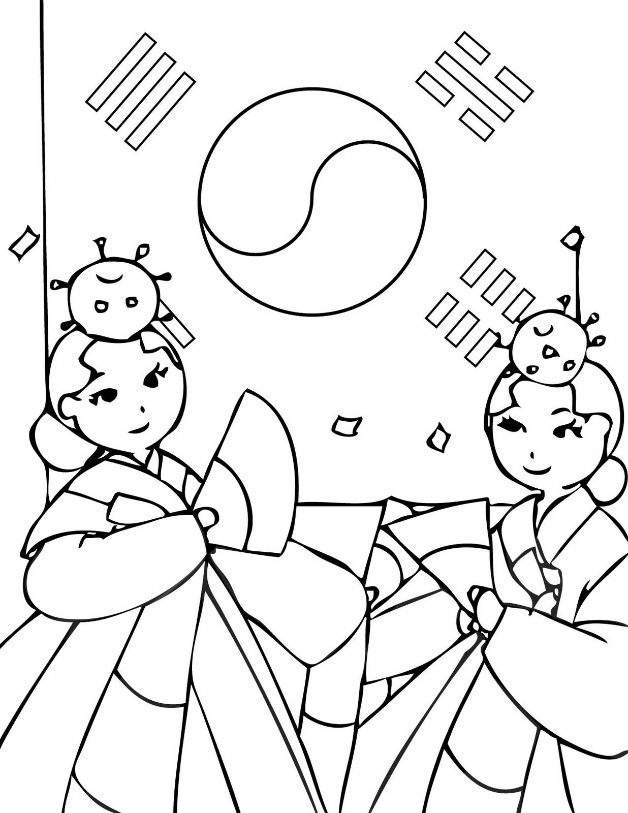 1236x1600 Korea Coloring Page The Cutest Blog Korean Coloring Pages