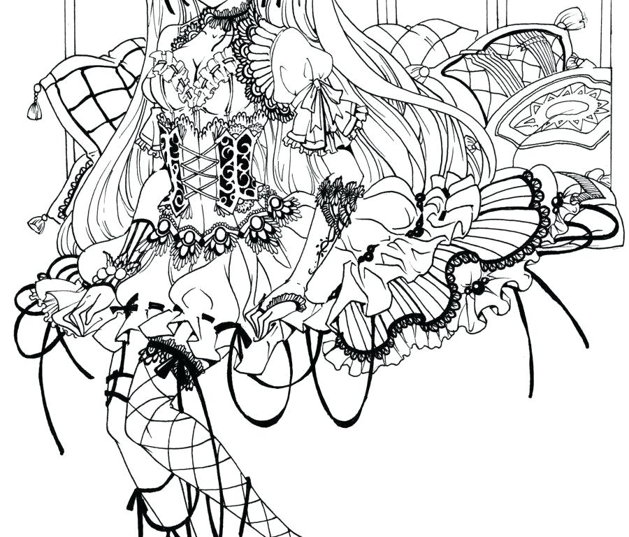 900x768 Goth Coloring Pages Coloring Pages Little Girls Adults Fairy