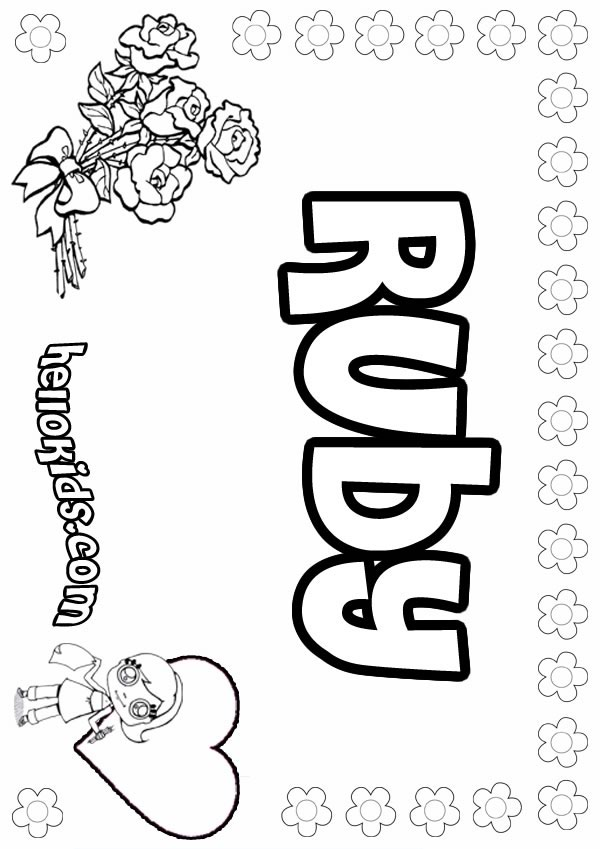 600x849 Ruby Coloring Pages
