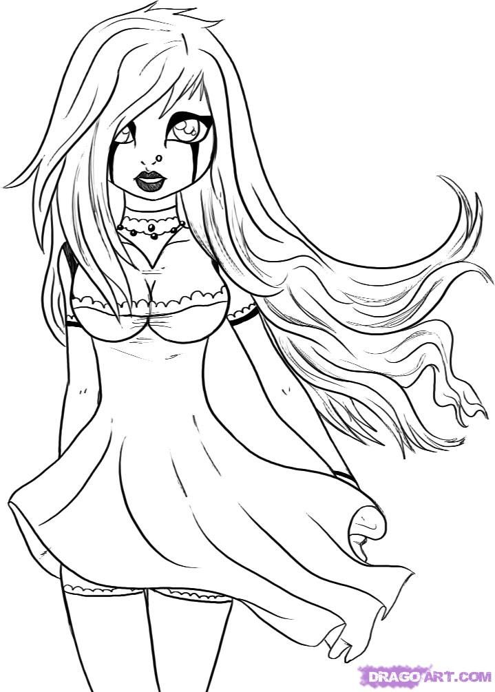 719x1005 Shining Gothic Coloring Pages For Adults Printable To Print Fairy