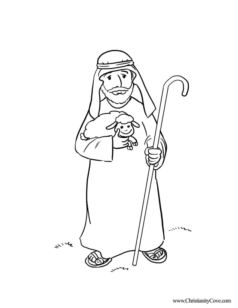 Pastor Coloring Page