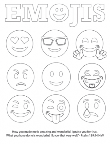 355x465 Free Emojis Coloring Page Children's Pastor Only Just Coloring