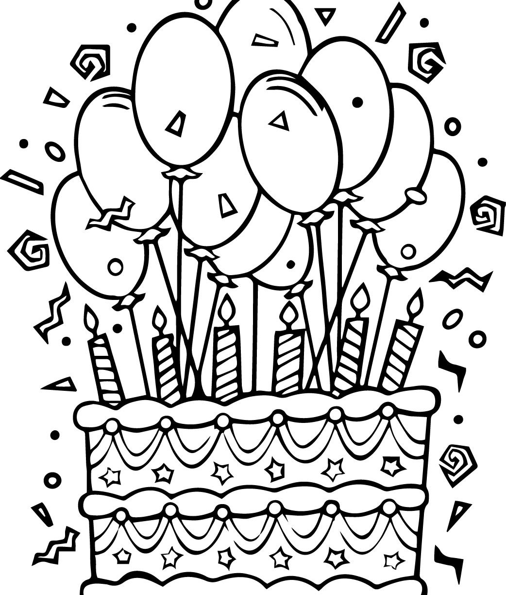 1042x1224 Epic Cake Coloring Pages On Coloring Books With Cake Coloring