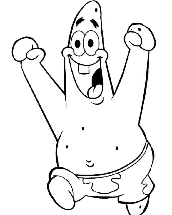 600x750 Patrick Star Coloring Pages Discover