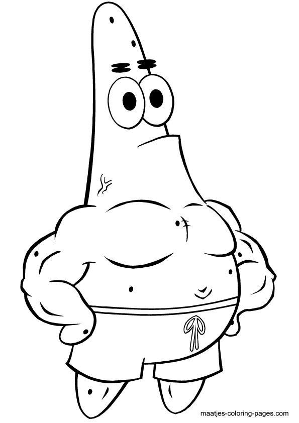 595x842 Spongebob Patrick Star Coloring Pages