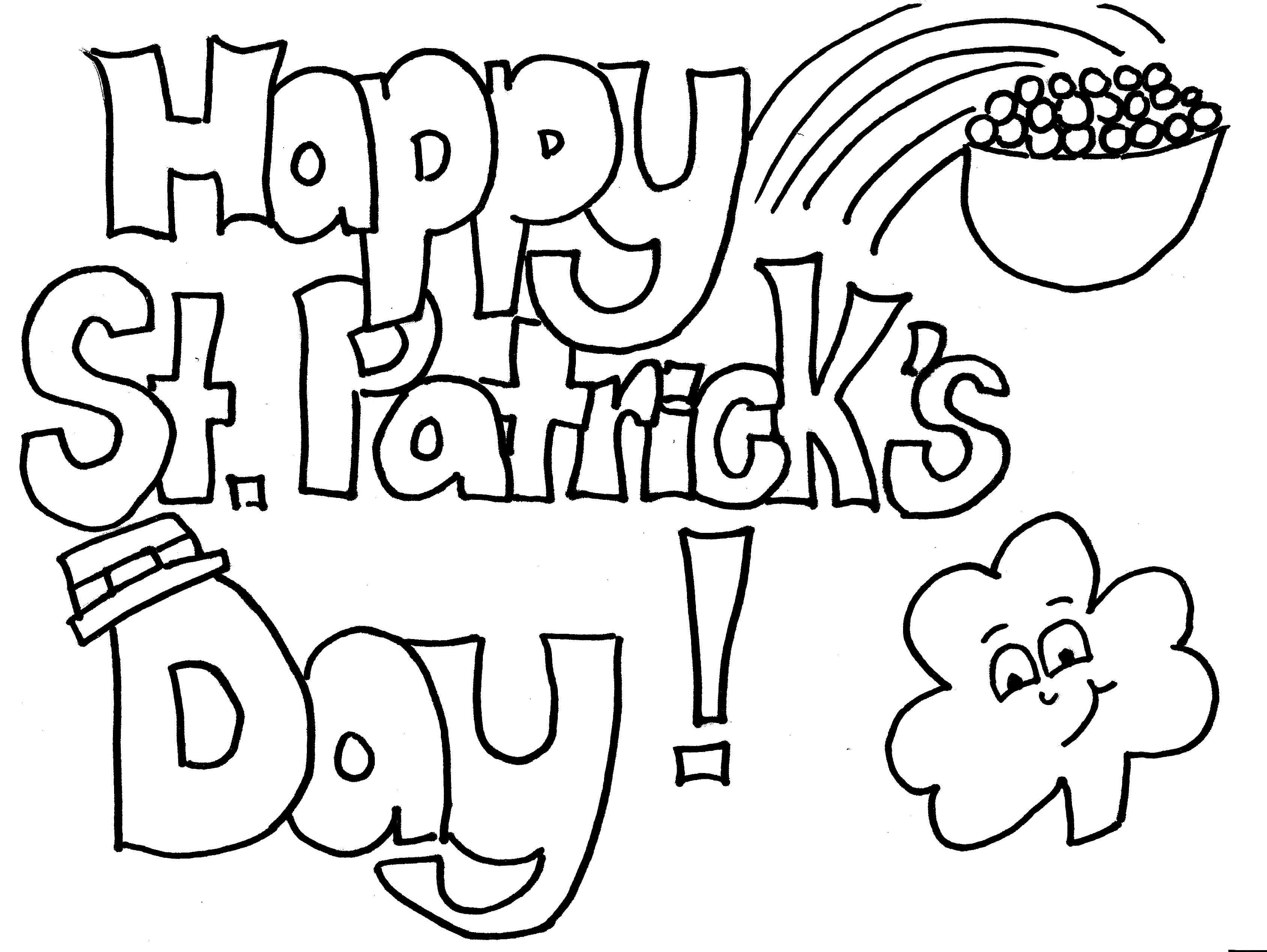 3377x2537 Nice St Patricks Day Coloring Sheets Printable St Patrick S Day