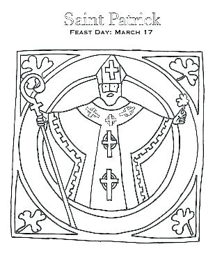 309x400 Saint Patrick Coloring Page
