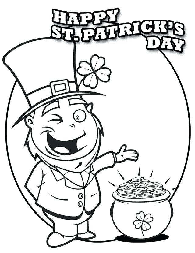 640x827 St Patrick Coloring Page Icontent