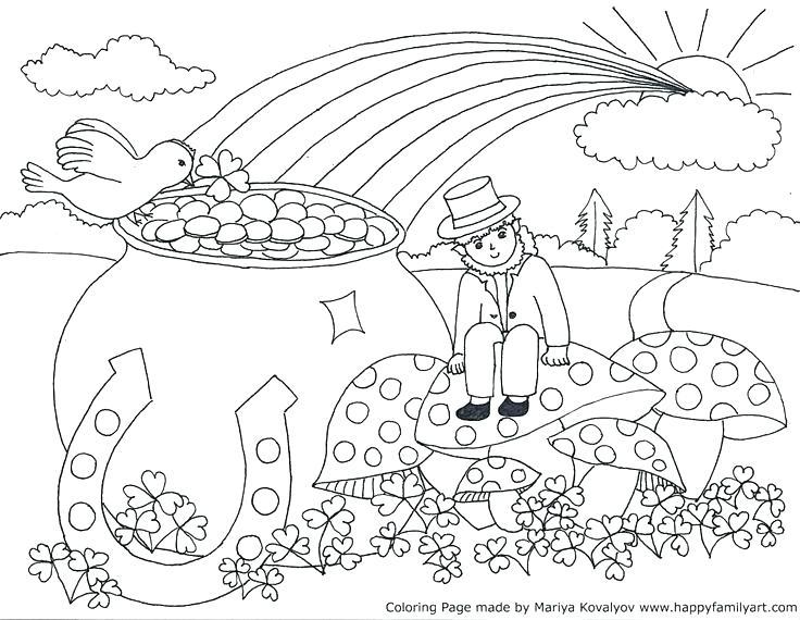736x570 Gratis St Patrick Para Colorear St Para St S Day Coloring Pages