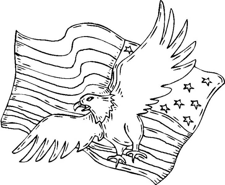 727x600 Of July Eagle And Flag The Patriot Day Coloring Pages Batch