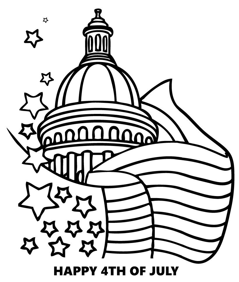 820x968 Exciting Fourth Of July Pictures To Color July Coloring Pages