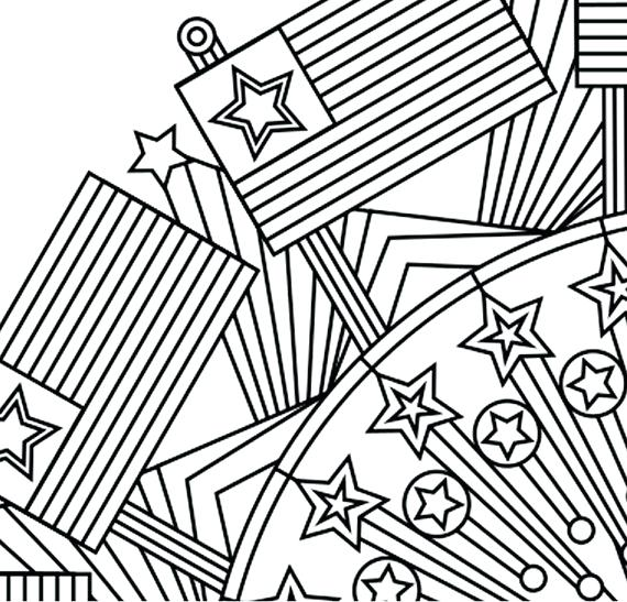 570x547 Independence Day Coloring Page Patriotic Of Independence Day