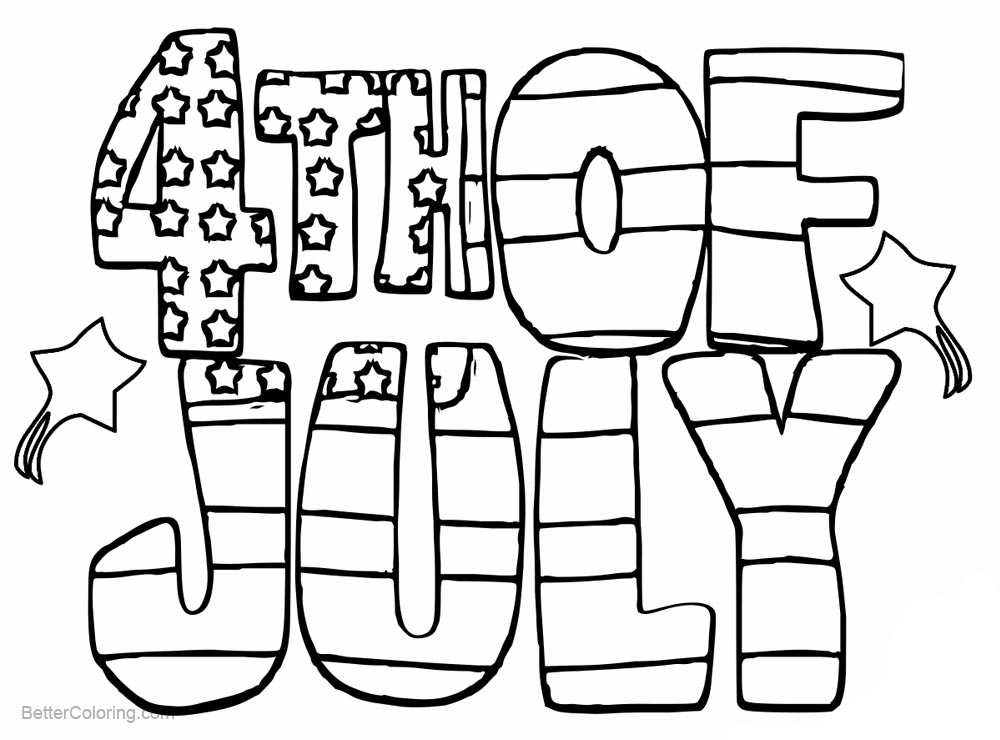 1000x740 Of July Patriotic Coloring Pages