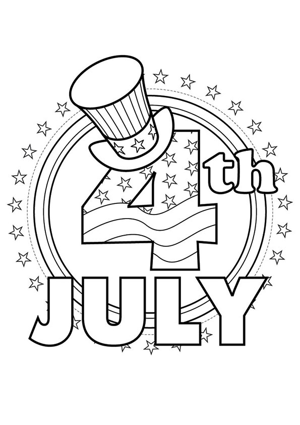 595x842 Patriotic Coloring Pages Of July