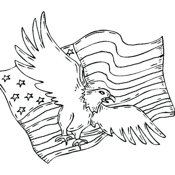 600x600 Eagle Color Page Patriotic Coloring Pages Bald Eagle A Free