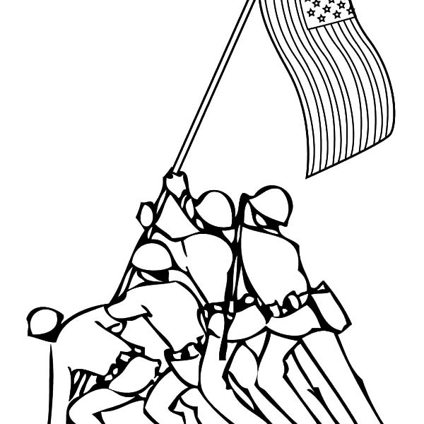 600x600 Soldier Keep Our Flag Stand Patriots Day Coloring Pages Best