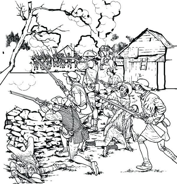 600x625 Patriot Day Coloring Pages Front Line Troops Patriots Day Coloring