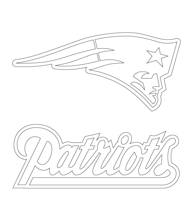 640x719 Free Printable New England Patriots Coloring Pages