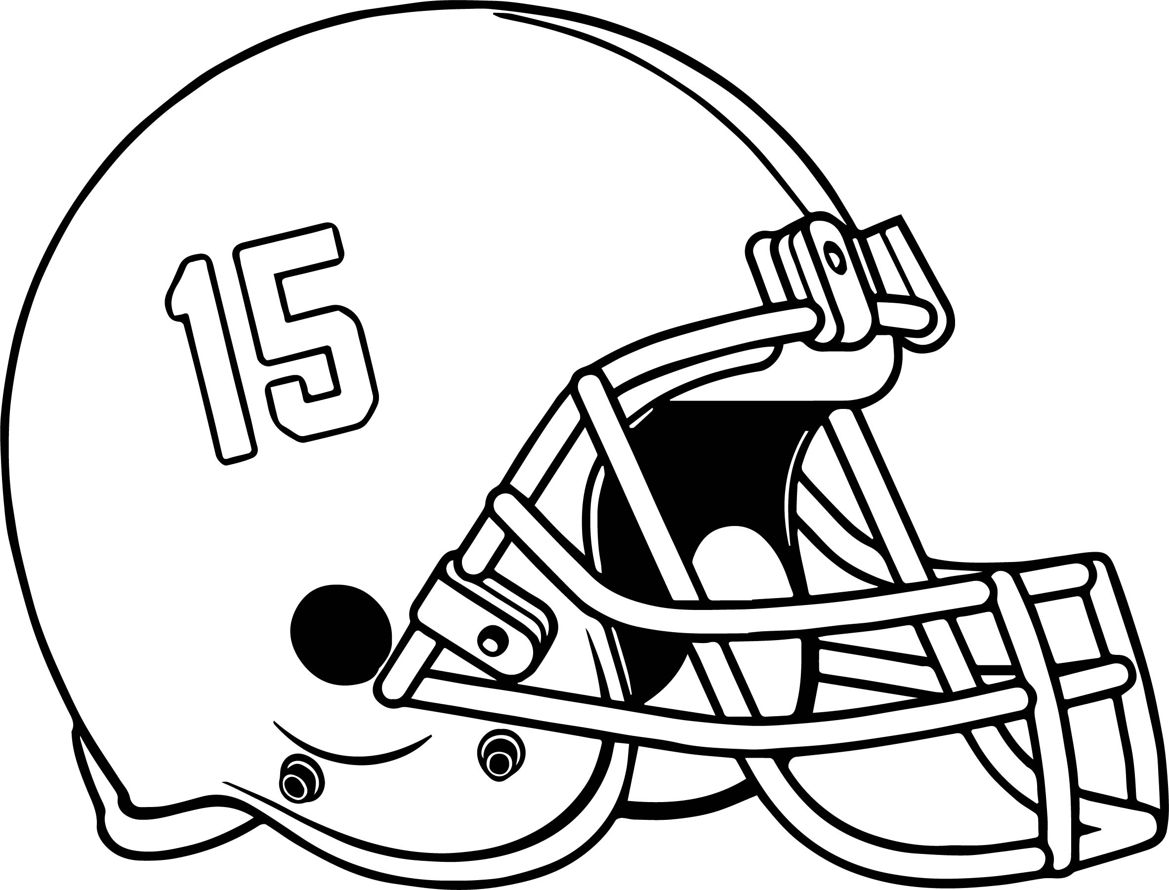 2366x1802 Football Helmet Coloring Page College Pages Throughout Glum Me