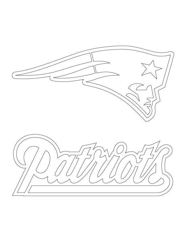 640x853 New England Patriots Logo Coloring Page Art