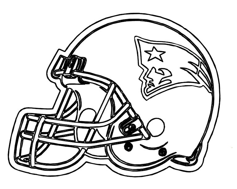 767x612 Football Helmet Patriots New England Coloring Pages Sports