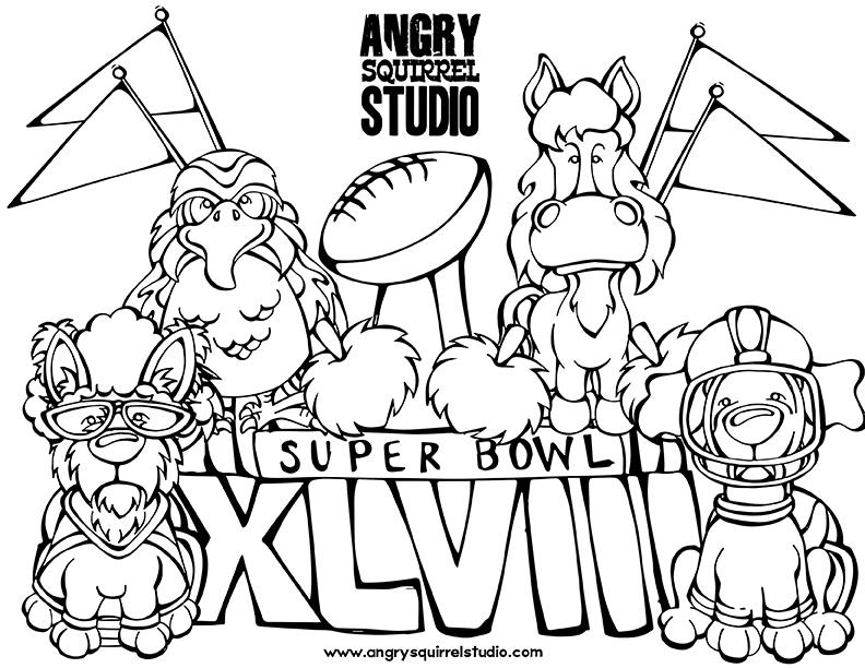 792x612 Super Bowl Coloring Pages