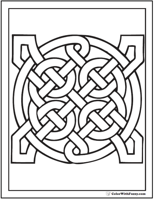 590x762 Celtic Pattern Coloring Pages Geometric Infinity