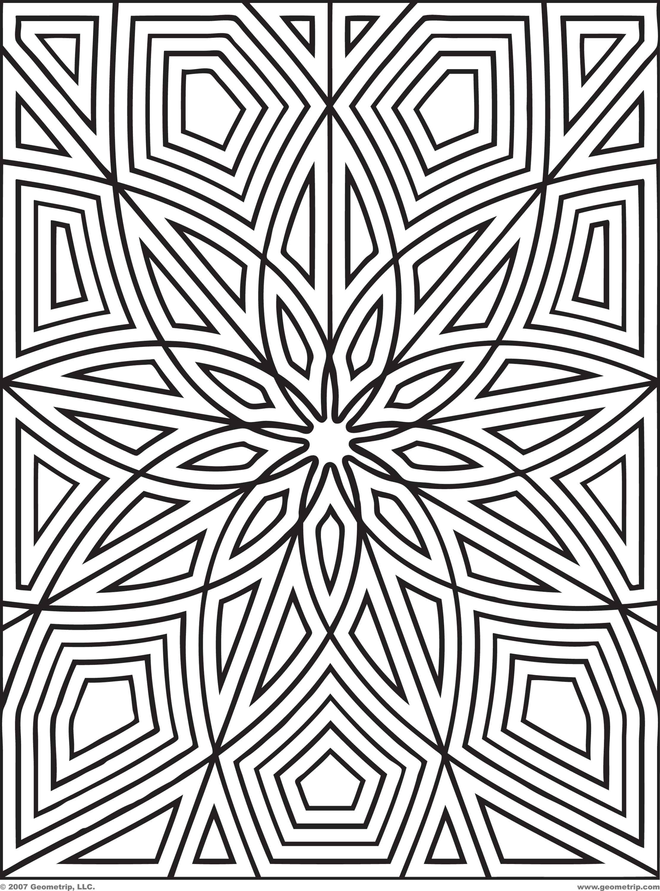 2222x3000 Difficult Geometric Design Coloring Pages Rectangles Page