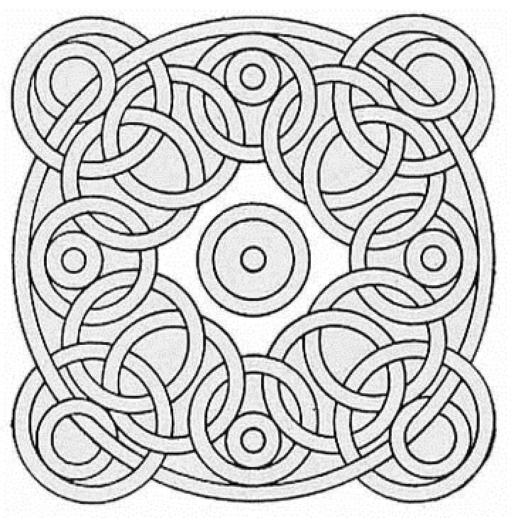 720x730 Free Geometric Pattern Coloring Pages For Adults