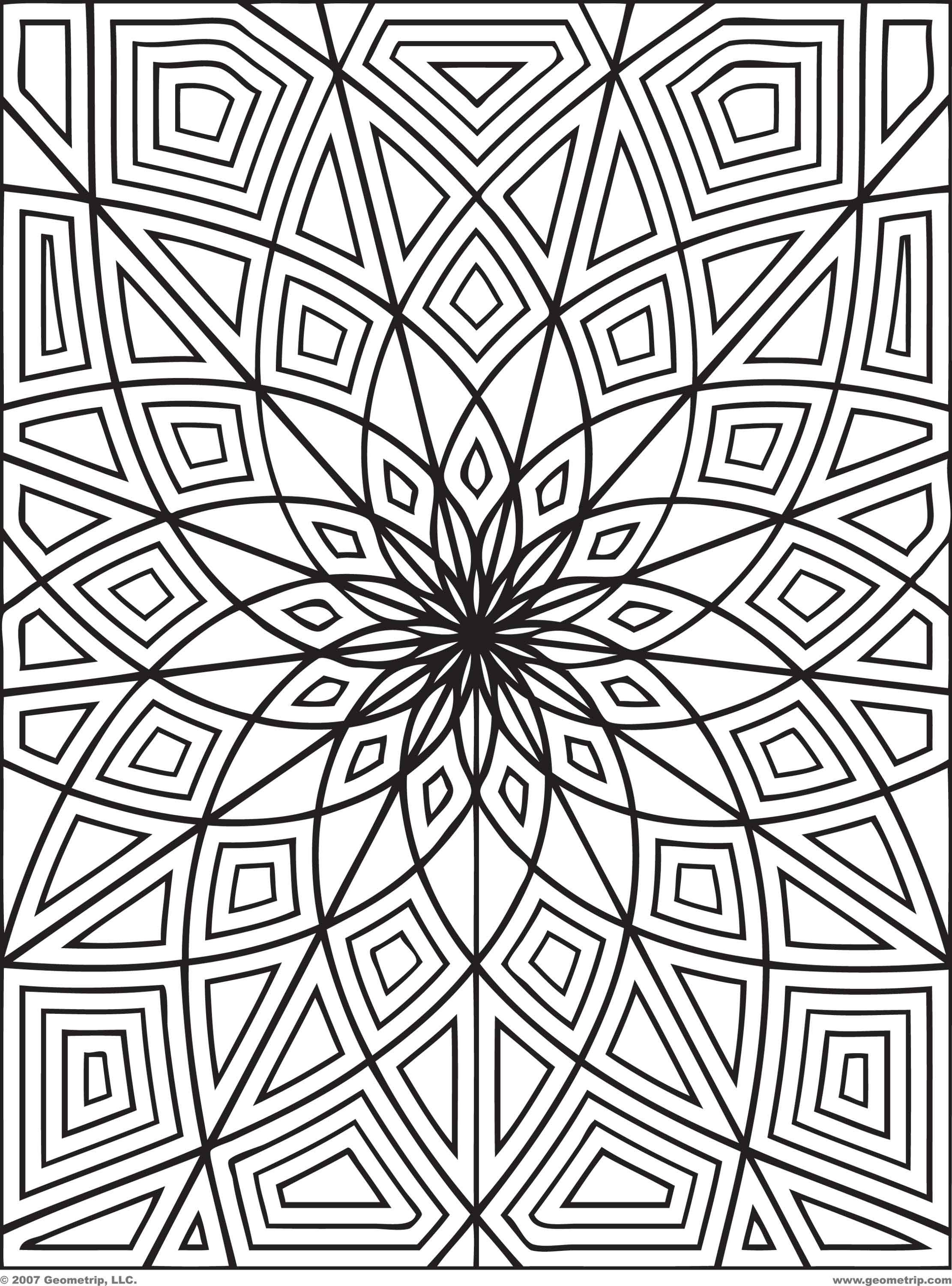 2222x3000 Geometric Pattern Coloring Pages For Adults Acpra