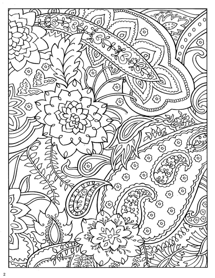 736x952 Adult Paisley Coloring Page Coloring Page For Adults Adult