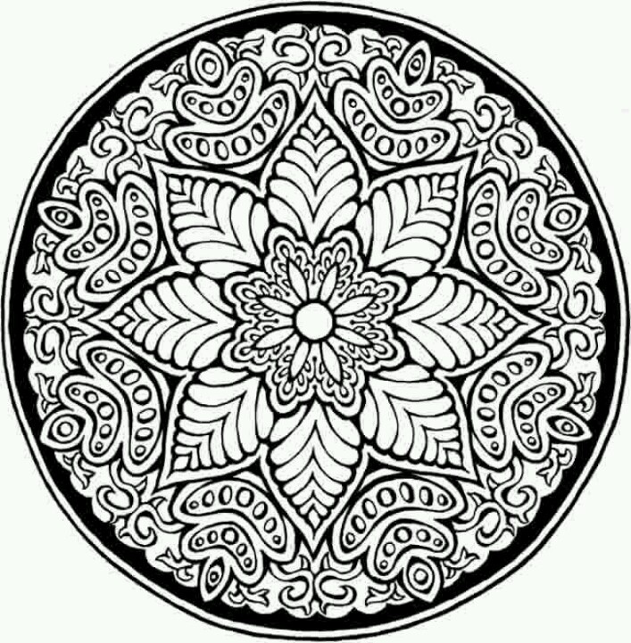 707x721 Mosaic Patterns Coloring Pages