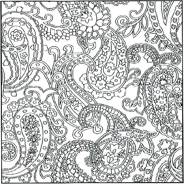 600x600 Pattern Coloring Pages For Adults Flower Pattern Coloring Pages