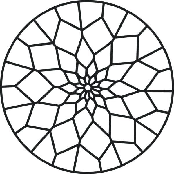600x600 Stained Glass Coloring Pages Stained Glass Patterns Coloring Pages