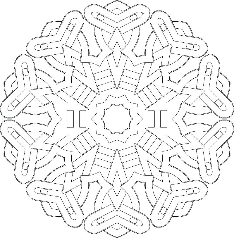 800x814 Celtic Pattern Coloring Pages