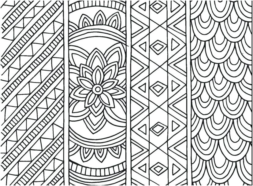 827x609 Printable Pattern Coloring Pages