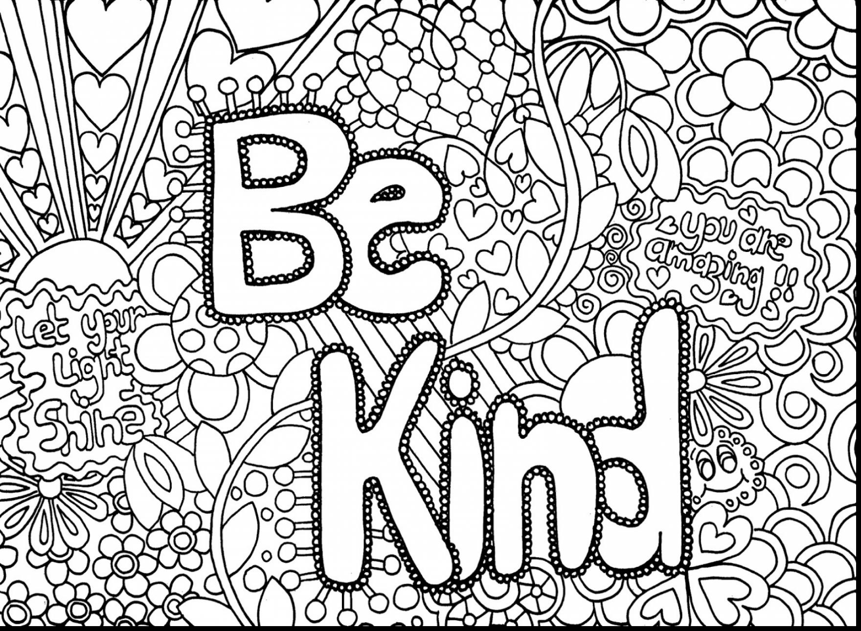 1760x1290 Awesome Unbelievable Flower Pattern Coloring Page With Hard