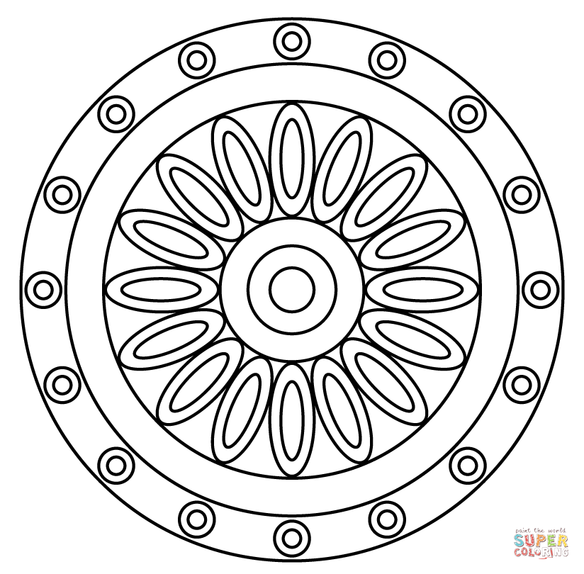 824x810 Coloring Patterns Pages Mandala With Flower Pattern Coloring Page